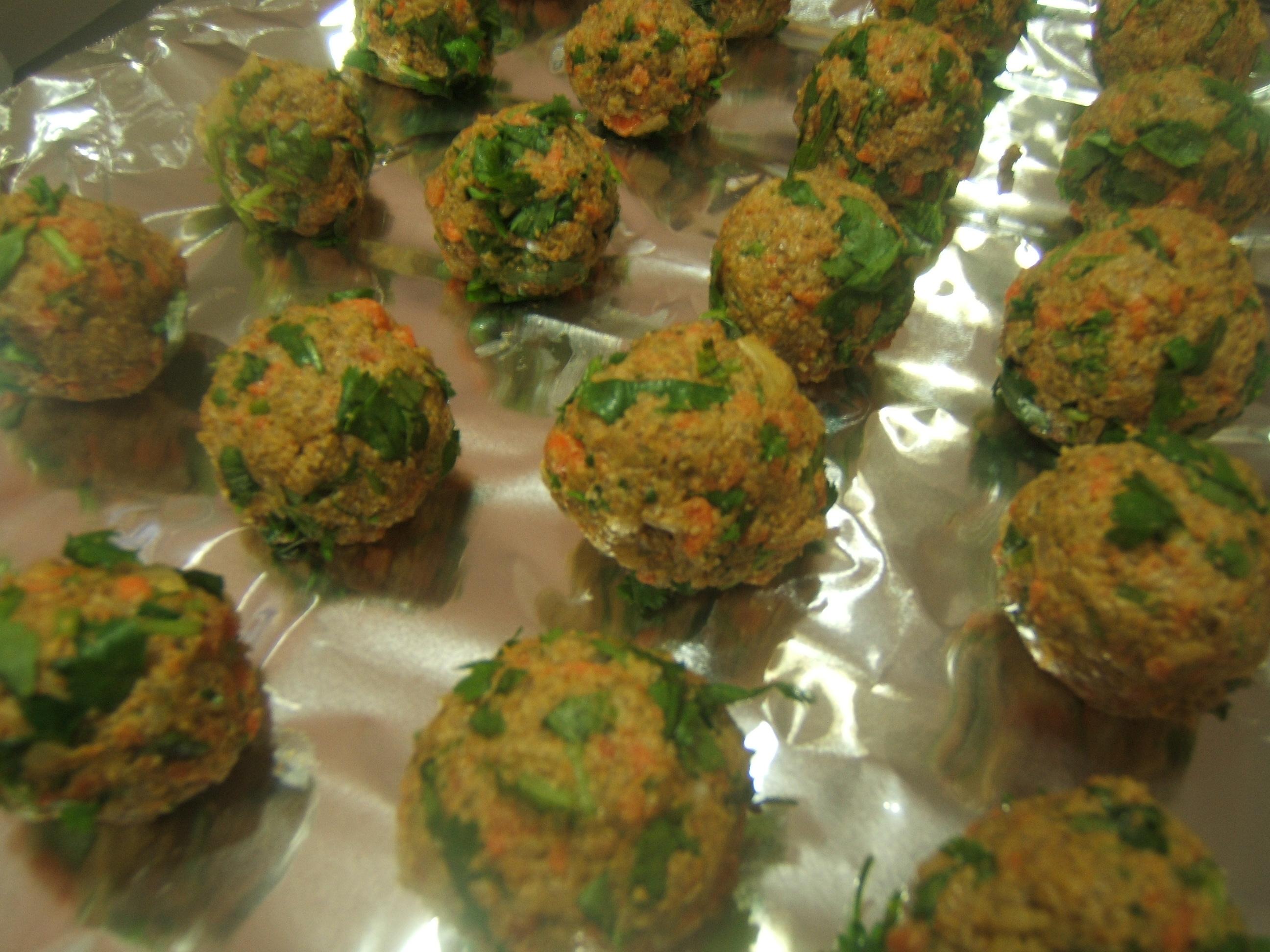 Recipe raw vegan falafel balls with tziki sauce no dehydrator raw vegan falafel balls 2 forumfinder Choice Image