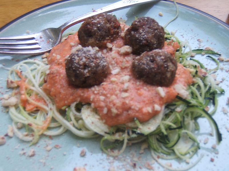 RAW Vegan Spaghetti & Meatballs